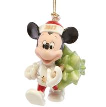 Lenox Disney 2017 Mickey Ornament Figurine Annual Mouse Trimming The Tre... - $64.98