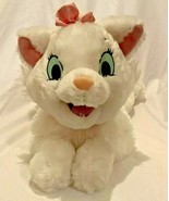 "Disney Parks Marie 15"" Plush Stuffed Aristocats White Cat  Pink Bow  - $16.14"