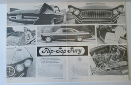 """1959 Plymouth Fury Custom Led Sled Vintage """"Flip-Top Fury"""" 2p Article Pages - $5.99"""
