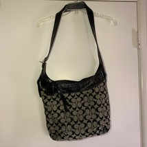 Coach Hobo Bleeker Sophie Black/Grey Signature Convertible 12568 Canvas Bag - $49.47