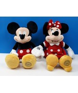 "Disney Store Original Mickey & Minnie Mouse Plush Stuffed Dolls 12"" - $41.67"