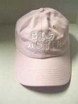 Big Sister Baseball Cap, Size Youth Small, Adjustable, Pink, Brand New - $11.99
