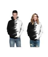 Adult Couples Contrast Pullover Sports Sweatshirt Jacket Hoodie Hip Hop ... - $19.45