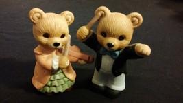 Orchestra Teddy Bear Porcelain Figurines Boy & Girl Set HOMCO - $25.00