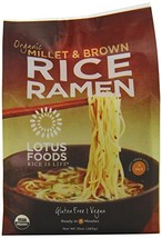 Lotus Foods Gourmet Organic Rice Ramen Noodles, Millet and Brown Rice, 6 Count - $47.29