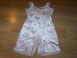 Size Small Future Star Capezio Light Pink Subtle Hearts Dance Unitard Le... - $17.00