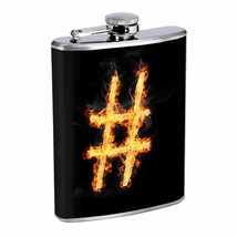Hashtags D9 Flask 8oz Stainless Steel Hip Drinking Whiskey - $262,23 MXN