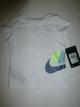 Nike Baby Girls White Athletic Cut T Shirt New 24 Months 16C806 - $13.85