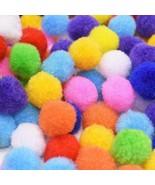 Ball Plush Soft Pom Poms Pompoms Balls 100/200pcs/lot 1.5cm-2.5cm Mini F... - $3.26+