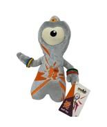"New Wenlock Paralympic Mascot London 2012 Plush Stuffed 8"" Grey Orange Toy - $12.00"