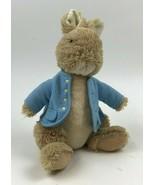 PETER RABBIT Furry PLUSH Gund BUNNY Blue COAT Beatrix Potter WARNE Plast... - $11.88