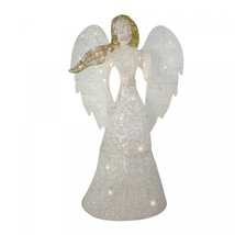 48' LED Lighted White and Gold Glittered Angel Christmas Outdoor Decorat... - $197.42