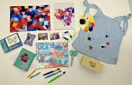 American Girl Gabriela's bedroom art studio accessories painting smock b... - $74.24