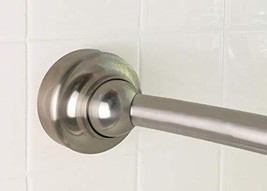 Rotator Rod Curved Shower Rod - For Small Bathrooms Brushed Nickel Shower Rod Fl