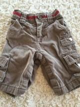 Baby Gap Boys Brown Lined Cargo Pants Snap Legs Elastic Waist 0-3 Months - $5.48