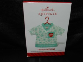 "Hallmark Keepsake ""The Best Medicine"" 2014 Fabric Ornament NEW - $1.49"