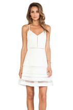Parker Whitefield Fit & Flare Mesh Dress M - $189.99
