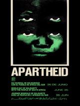 "20x30""Political World Solidarity Socialist Poster CANVAS.No to Apartheid.6229 - $75.00"