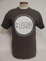 Raising Hell Legs & Lungs Marathon Cancer Survivor Awareness M Gray T-shirt - $13.85