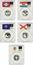 2003-S Statehood Quarter Set 25c PCGS PR 69 DCAM (Silver, 5 Coins) - $82.45
