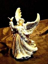 Angel Figurine with Silver Wings AA18-1369 Vintage image 4
