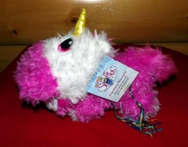 "Baby Stuffies Treasures Keeper Pink & White Magnetic Unicorn Plush 10"" P... - $7.29"