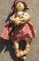 Primitive Decor 8285CD- Primitive Red Check Doll - €11,79 EUR