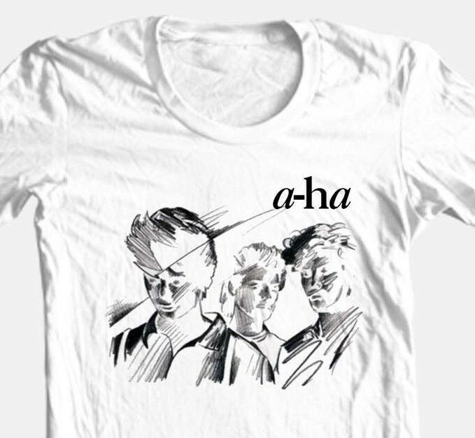 A-Ha T-shirt Free Shipping retro 80's alternative new wave 100% cotton white tee