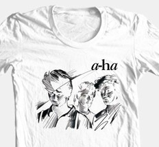 A-Ha T-shirt Free Shipping retro 80's alternative new wave 100% cotton white tee image 2