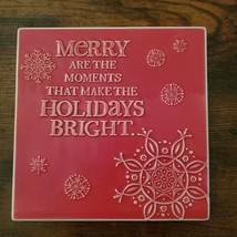 Christmas Trivet, Hallmark decorative tile, red, Merry Moments Holidays Bright image 1