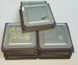 lot 17 CPU Processor AMD K6 AMD-K6 Vintage Ceramic Gold pin scrap 13oz - $71.43