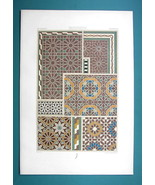 MOORISH ORNAMENTS Arab Minarets Oran Algeria - COLOR Litho Print A. Racinet - $16.87