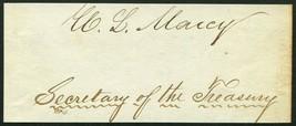 WILLIAM L MARCY SIGNED CUT SECRETARY OF STATE WAR GOVERNOR SENATOR OF NE... - $69.29