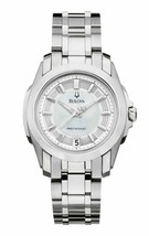 Bulova Precisionist 96M108 Women's Round Mother of Pearl Analog Date Wacth - $166.50