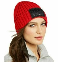 DKNY Women's Beanies Fleece-Lined Knit Beanie Winter Hat Red One Size, $... - $15.99