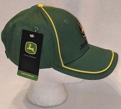 John Deere LP67010 Green Adjustable Baseball Cap With Leaping Deer Logo image 3
