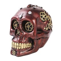 Exotic Steampunk Cool Skull Figurine Made of Polyresin - $24.71