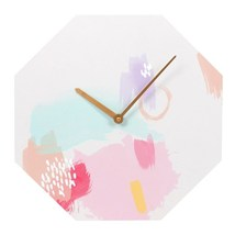 MDF Colourful Octagon Shaped Wall Clock; 52226 - $18.90