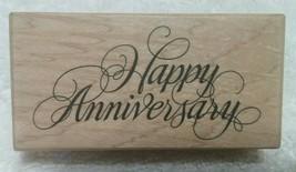"""PSX """"Happy Anniversary"""" Cursive Script Rubber Stamp, Model F-270 - NEW - $5.95"""