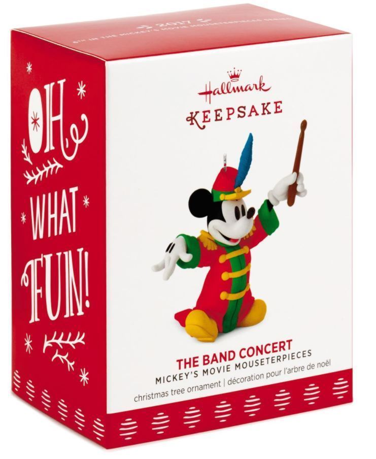 Hallmark: The Band Concert - Mickey's Mousterpieces Series 6th  - 2017 Ornament - $13.65