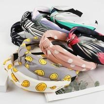 Elegant Top Knot Printed Design Turban Hairband For Women Hair Accessori... - $9.49