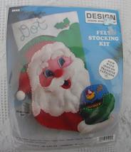Design Works Santa Christmas Stocking Kit 5022 Santa Claus Holding The World San - $17.99