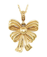 """Bow Design 18"""" Necklace In 14K Yellow Gold - $336.59"""