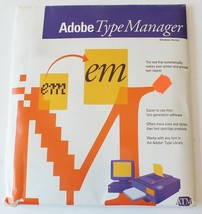"Adobe Type Manager 1990 3.5"" and 5.25"" disks Sealed Vintage Package - Windows - $17.30"
