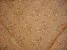 12-1/8Y CRAFTEX DUSTY BLUE GOLD TEXTURED BROCADED BOUCLE UPHOLSTERY FABRIC - $172.66