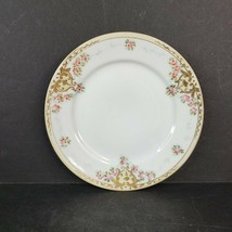 Vintage Nippon Porcelain China Bread Plate Roses with Moriage Gold Made in Japan - $18.99