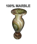 JT Handmade Marble Flower Vase Plant pot Elegant Home Decor 12 inches - $49.49