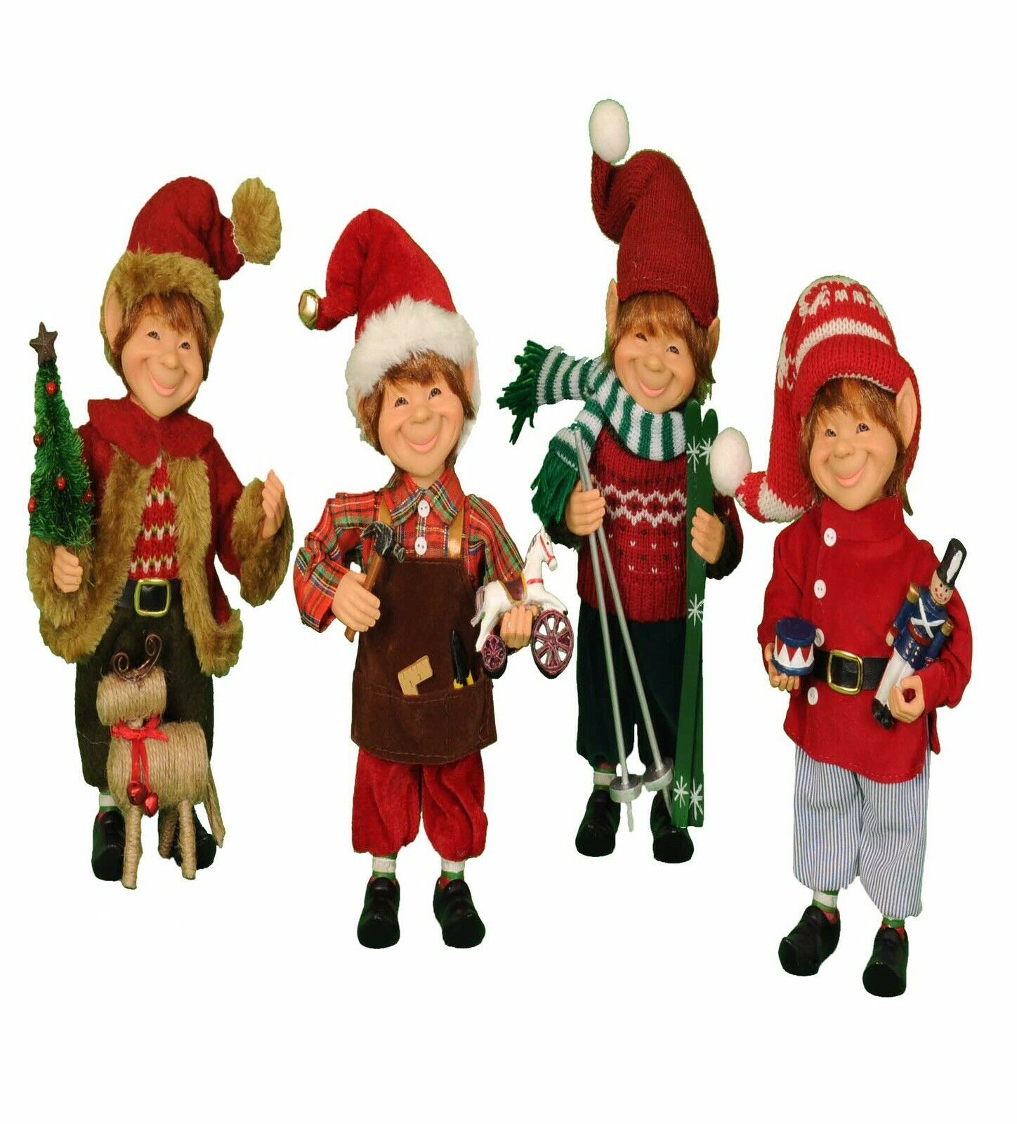 Primary image for Karen Didion Elf Santa helpers set of 4 elves cc09-10