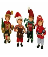 Karen Didion Elf Santa helpers set of 4 elves cc09-10 - $139.99