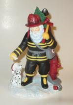 Fireman Santa Pipka Resin Caring Collection Christmas Figurine Dalmatian... - $52.46